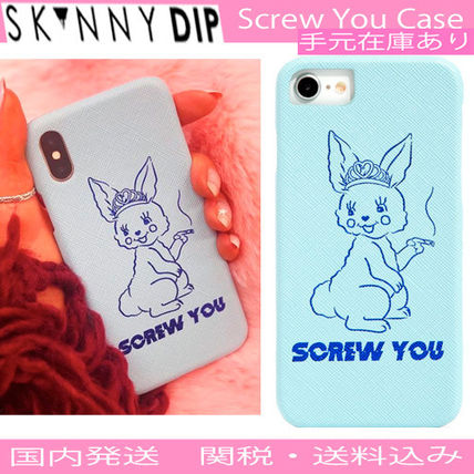 SKINNYDIP iPhone・スマホケース 【2018AW新作】☆SKINNY DIP☆SCREW YOU☆iPhoneケース