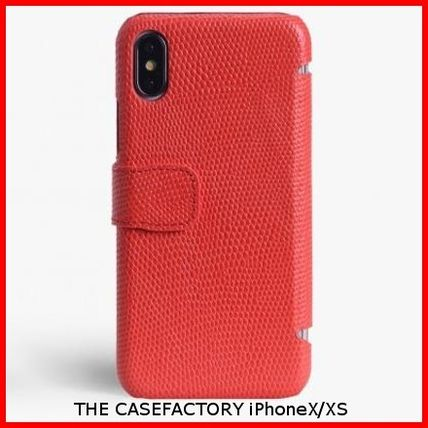 THE CASE FACTORY スマホケース・テックアクセサリー 関税送料込☆THE CASEFACTORY☆IPHONE X/XS CARDCASE LIZARD