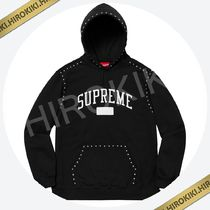 S /M /Lサイズ /Supreme Studded Hooded Sweatshirt スタッズ 黒