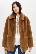 TOPSHOP トップショップ Faux Fur Zip Up Jacket