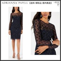 【海外限定】AdriannaPapellドレス☆Embellished Illusion Sheat