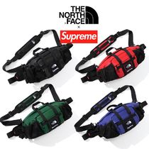 FW18 Supreme × TNF Leather Waist Bag - ウエストバッグ
