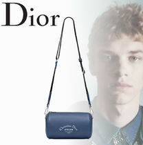 2018AW【Dior】ROLLER カーフスキン ブルー クラッチバッグ