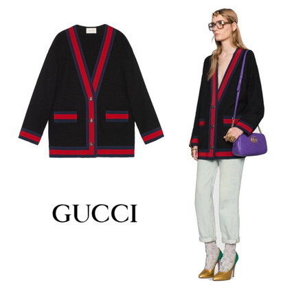 【GUCCI】Giacca in tweed con motivo Web