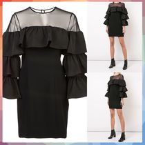 cinq a sept(サンクセプト) ワンピース 【送料・関税等込み】tiered sleeve dress
