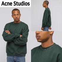 新作!Acne Studios  Flogho Crewneck Sweater  Forest Green
