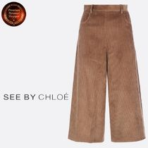 See by Chloe∮ リブドベルベットcullottes 関税送料込!!