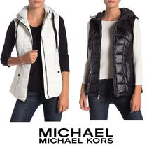 Micheal Kors★Quilted Hooded Vest