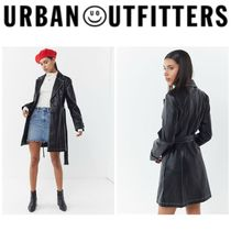 【URBAN OUTFITTERS】●日本未入荷● Irina Leather Trench Coat