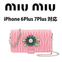 【MiuMiu】iPhone 6Plus 7Plus スマホケース
