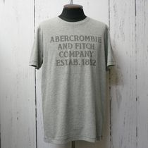 Abercrombie&Fitch アバクロ プリント 半袖 Tシャツ 灰 (9034)