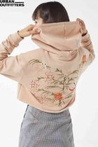 UO Embroidered Cropped Hoodie