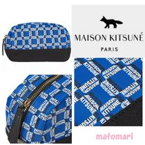 大人気!!【MAISON KITSUNE】ALL-OVER RECTANGLE ロゴ ポーチ