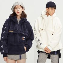 ★ROMANTIC CROWN★大人気 もこもこ Pocket Fur Anorak【全2色】