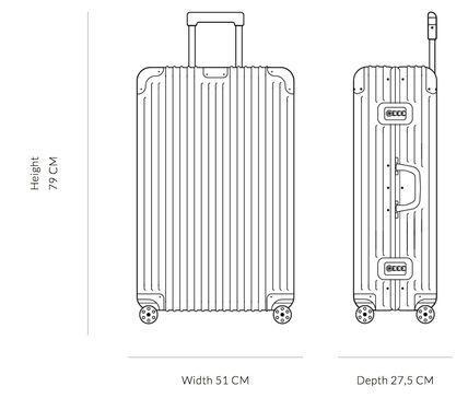 RIMOWA スーツケース 【2018ニューモデル】ORIGINAL/Check-In L/6,2 KG/86L/Titanium(9)