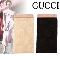 【関税込み】GUCCI ★Lace logo-embroidered タイツ