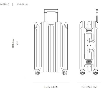 RIMOWA スーツケース 【2018ニューモデル】ORIGINAL/Check-In M/5,4KG/60L/Titanium(10)
