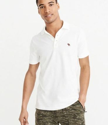 Abercrombie & Fitch ポロシャツ アバクロメンズポロ  STRETCH  POLO(4)