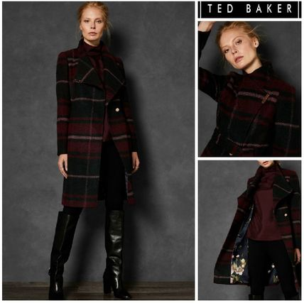 ★TED BAKER★UK発/送料込みSKAALETチェックカシミア混コート♪