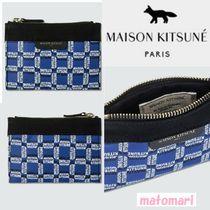 大人気!!【MAISON KITSUNE】ALL-OVER RECTANGLE ロゴミニ ポーチ