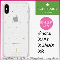 kate spade◆iPhone X/XS ケース◆可愛いビジュー◆クリア