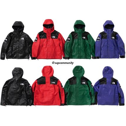 ★18AW★Supreme The North Face Leather Mountain Parka