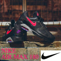 NIKE AIR MAX 180 BLACK / PINK BLAST WOLF GREY 【送・税込】