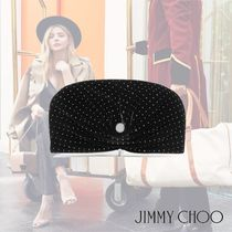 【Jimmy Choo】18AW★Vivienne glittered velvet clutch