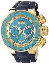 Invicta Men's 'Reserve' Quartz Stainless Steel and Leather