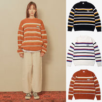 Default(デフォルト) ニット・セーター 【Default】STRIPE PATCH KNIT(3color) - UNISEX