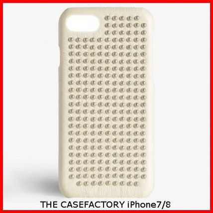 THE CASE FACTORY スマホケース・テックアクセサリー 関税送料込☆THE CASEFACTORY☆IPHONE 7/8 BORCHIE NAPPA IVORY