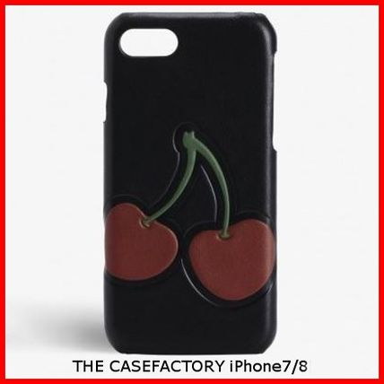 THE CASE FACTORY スマホケース・テックアクセサリー 関税送料込☆THE CASEFACTORY☆IPHONE7/8カーフチェリーブラック