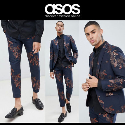 ASOS 鯉柄 スーパースキニー スーツ Twisted Tailor
