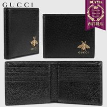 【正規品保証】GUCCI★18秋冬★ANIMALIER LEATHER WALLET_NERO