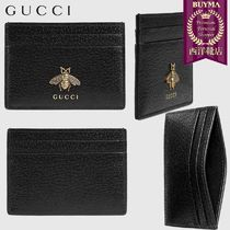 【正規品保証】GUCCI★18秋冬★ANIMALIER LEATHER CARD CASE