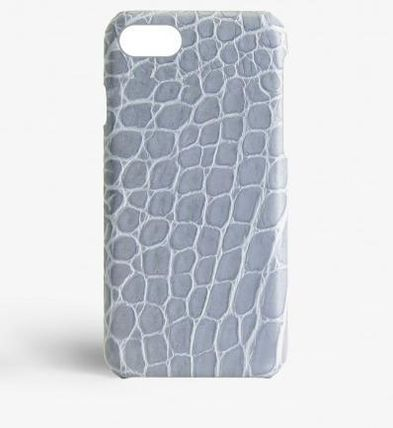 THE CASE FACTORY スマホケース・テックアクセサリー 関税送料込☆THE CASEFACTORY☆IPHONE 7/8 CROCODILE BLUE SHINY(2)