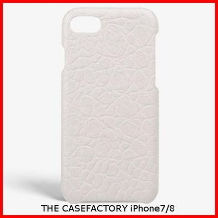 THE CASE FACTORY スマホケース・テックアクセサリー 関税送料込☆THE CASEFACTORY☆IPHONE 7/8 CROCODILEMATTE WHITE