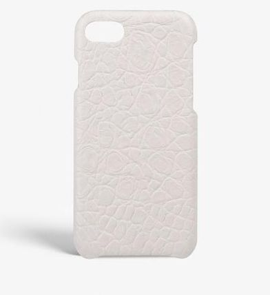 THE CASE FACTORY スマホケース・テックアクセサリー 関税送料込☆THE CASEFACTORY☆IPHONE 7/8 CROCODILEMATTE WHITE(2)