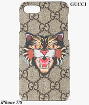 ★GUCCI★GG Supreme Angry Cat*iPhone 7/8ケース