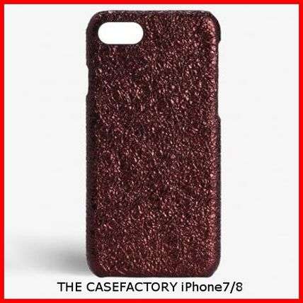 THE CASE FACTORY スマホケース・テックアクセサリー 関税送料込☆THE CASEFACTORY☆IPHONE 7/8 METALLIC BURGUNDY