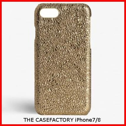 THE CASE FACTORY スマホケース・テックアクセサリー 関税送料込☆THE CASEFACTORY☆IPHONE 7/8CRUSHED METALLIC GOLD