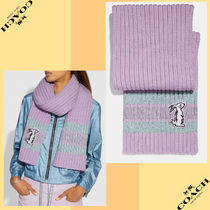 Coach コーチ Selena Knit Scarf With Bunny セリーナ マフラー