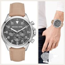 Michael Kors☆Gage Stainless-Steel and Leather Watch★セール