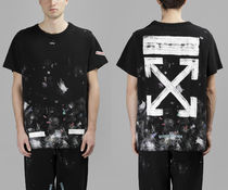 即発送 OFF WHITE GALAXY BRUSHED DIAGONALS ARROW S/S TEE
