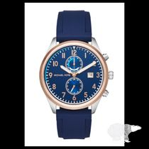 Michael Kors☆Saunder Silicone Chronograph Watch★セール