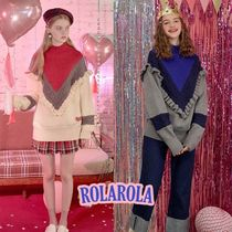 rolarola★FRILL TURTLE-NECK KNIT
