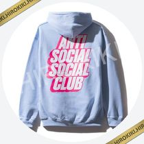 Anti Social Social Club Blocked Logo Blue Hoodie ASSC Hooded