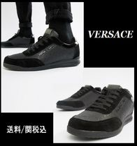 【Versace】Jeans trainers スエード パネル スニーカー 黒 ♪
