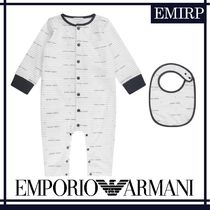 18AW☆EMPORIO ARMANI★BABYS★ロゴロンパースセット