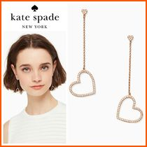 新作!!☆kate spade☆yours truly pave heart linear earrings